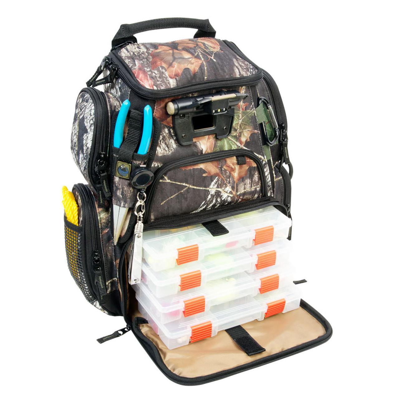 Wild River NOMAD Mossy Oak Tackle Tek Lighted Backpack w//4 PT3600 Trays
