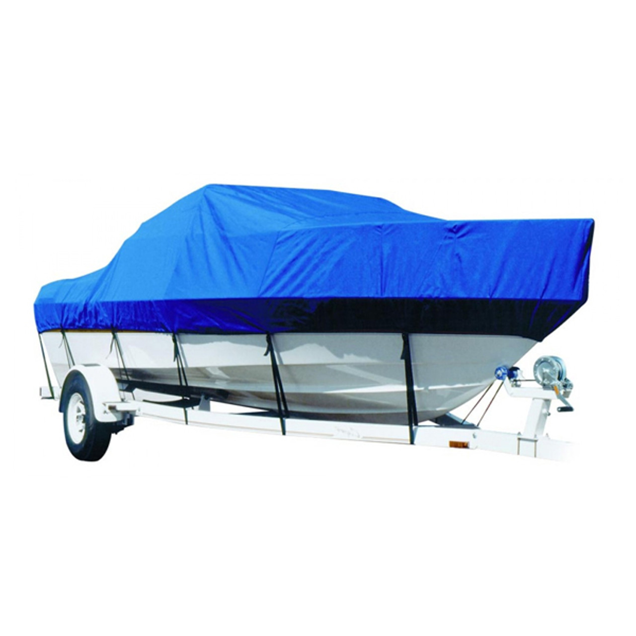 BLUE BOAT COVER FITS REINELL//BEACHCRAFT 192 MAGNUM CUDDY 1988-1997