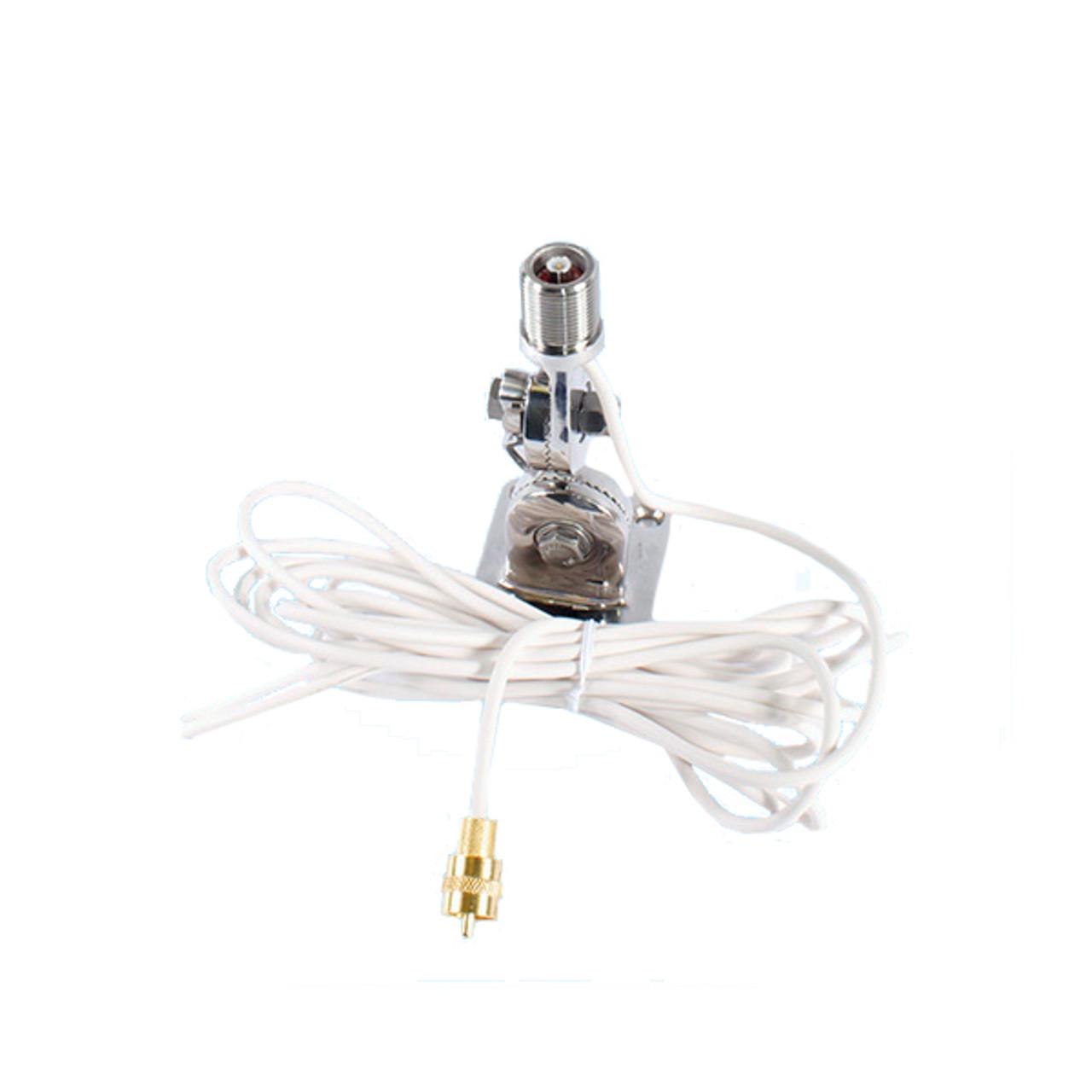 Shakespeare Antenna Mount VHF Radio Marine Stainless Steel Ratchet New