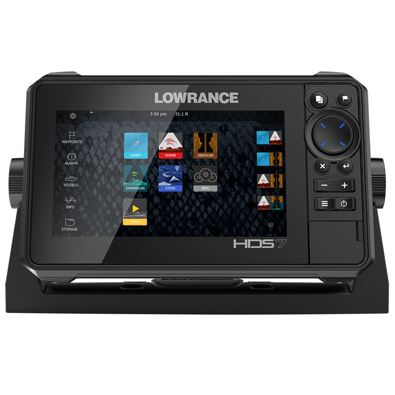 lowrance hds-7 live w/ c-map pro chart on lowrance structure scan