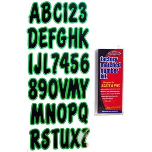"""Hardline REBKG200 3/"""" Boat Letter And Number Kit Black And Red"""