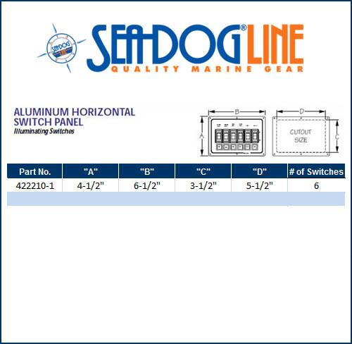 Aluminum Horizontal Switch Panel