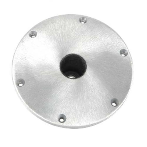 """Swivl-Eze Sp67904 Snap-Lock Deck Base Brushed Aluminum 9/"""""""