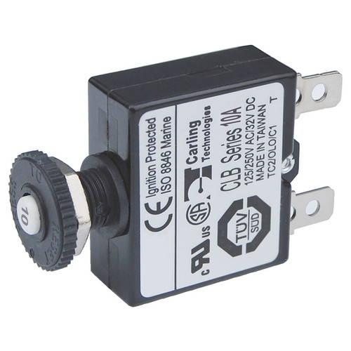 blue sea reset-only push button circuit breaker
