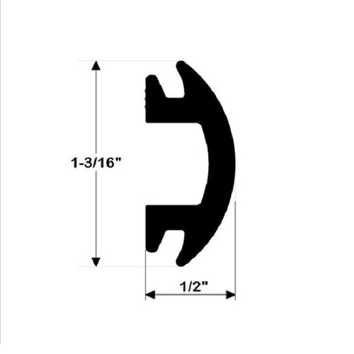 Taco Black Flexible Rub Rail Insert 1-3/16