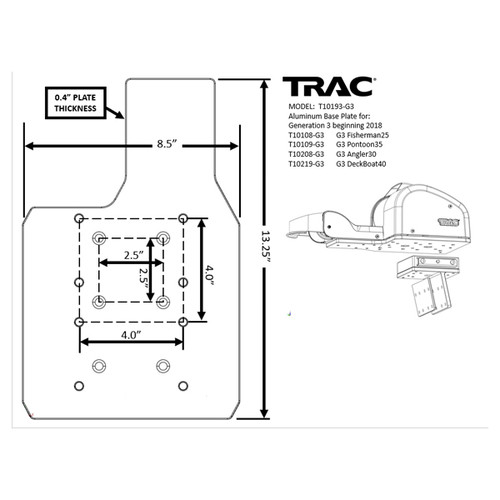 TRAC Gen3 Anchor Winch Mounting Plate