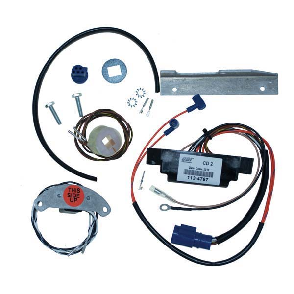 CDI 113-4489 Johnson Evinrude Power Pack CD2 Conversion Kit on omc remote control, omc control box, omc oil cooler, omc voltage regulator, omc gauges, omc inboard outboard wiring diagrams, omc neutral safety switch, omc cobra parts diagram, omc fuel tank, omc cobra outdrive,