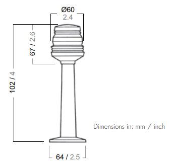 Aqua Signal 20040-7 Dimensions