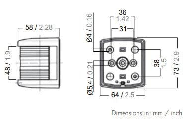 Aqua Signal 25500-7 Dimensions
