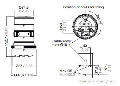 Aqua-Signal-34706-7-Dimensions
