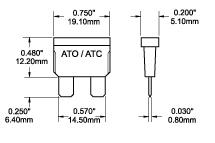 Blue Sea ATO/ATC Fuse Dimensions