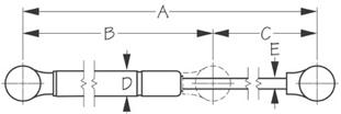 Sea Dog Gas Spring Dimensions