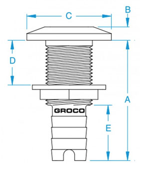 Groco-HTH-Thru-Hull-Fitting-Diagram