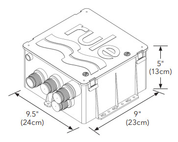 Rule Shower Pump System Dimensions