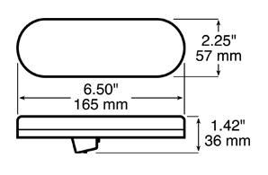 Anderson V821KR-7 Dimensions