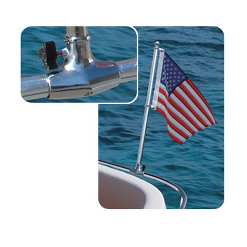 """Clip For 7//8/"""" 1/"""" Rail Boat Yacht Stainless Steel 304 SS 21/"""" Flag Pole"""