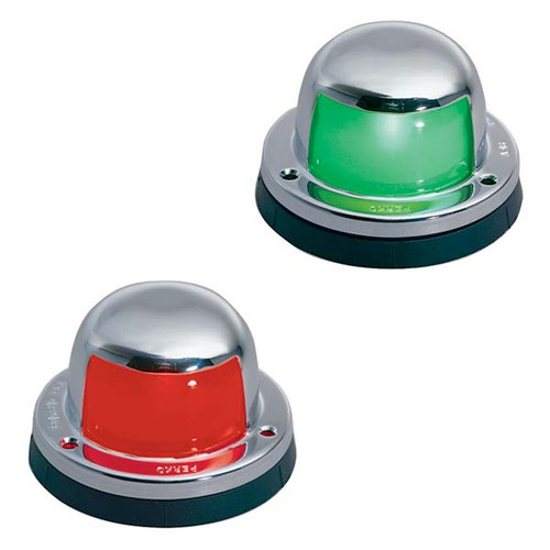 """attwood Quasar 12 volt 2 mile Navigational lights with 16/"""" leads 1 red /& 1 green"""