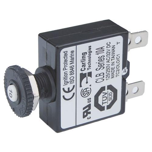 Blue Sea Reset-Only Push Button Circuit BreakerWholesale Marine