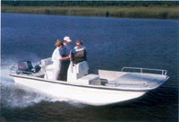 Center Console - Square Bow Bay Style Boat