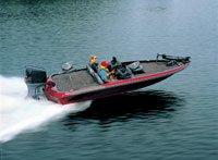 Bass Boat - Angled Transom