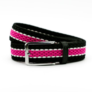 Black with Pink Middle Belt - THICK