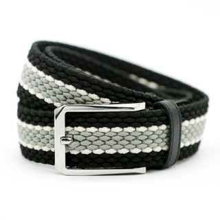 Black with Grey Middle Belt - THICK