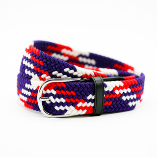 Stretch Belt Navy, Red and White