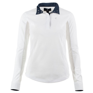 HZ Blaire Ladies Shirt (Long sleeve) White with Navy Trim