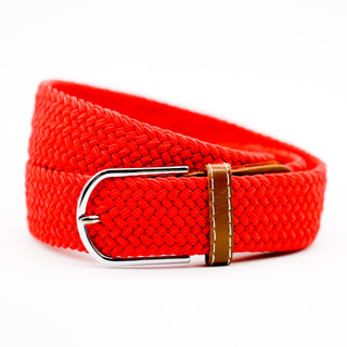 Thick Red Belt with Tan Ends