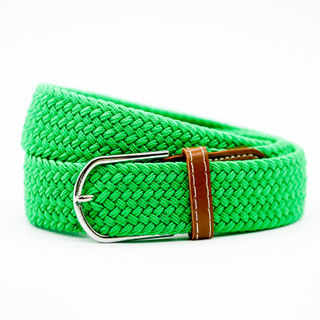 Thick Emerald Belt with Tan Ends