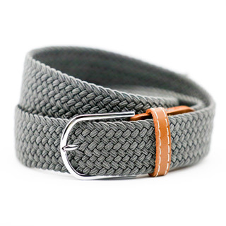 Belt Thick Plain Grey with Tan Ends