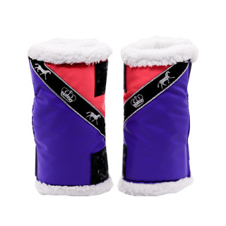 Stock Sherpa Boots Pink and Purple with Horses (Pair)