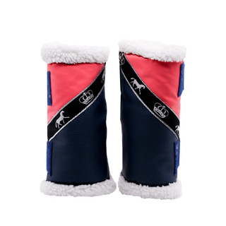 Stock Sherpa Boots Pink and Navy with Horses (Pair)