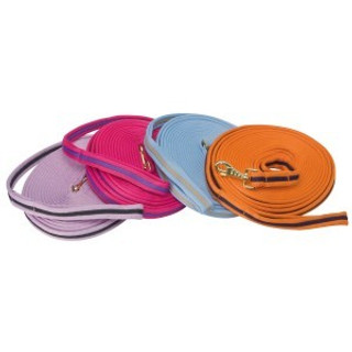 Soft Tubular Web Lunge Lead - Cerise/Purple