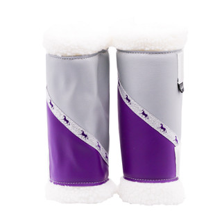 Sherpa Boots - Silver & Purple (Pair) FULL