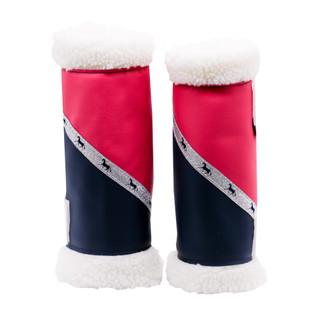 Sherpa Boots - Pink & Navy (Pair) FULL