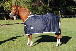 Gala Equine Show Rug Navy Cotton with White