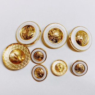 Gold With White Metal Buttons with Sheilds