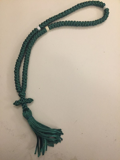 100 knot satin cord prayer rope