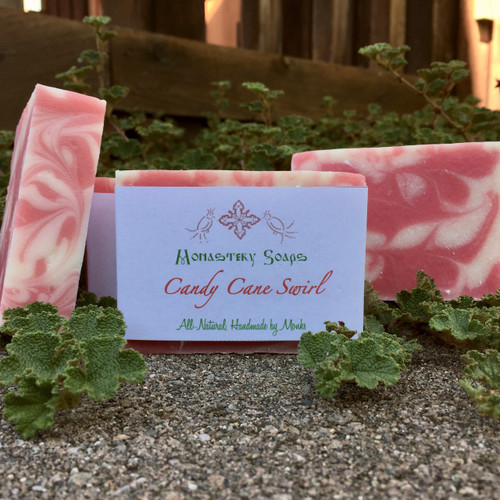 Candy Cane Swirl Soap