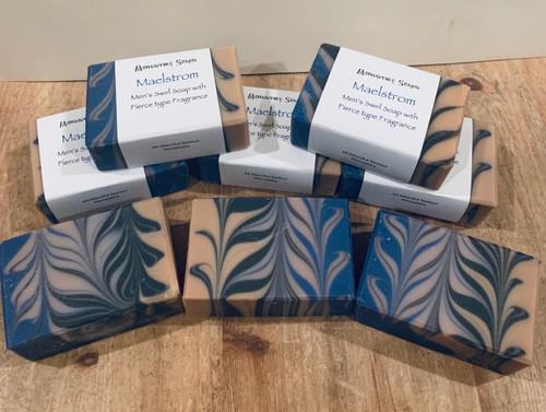 Maelstrom Men's Swirl Soap with 'Fierce' Type Fragrance