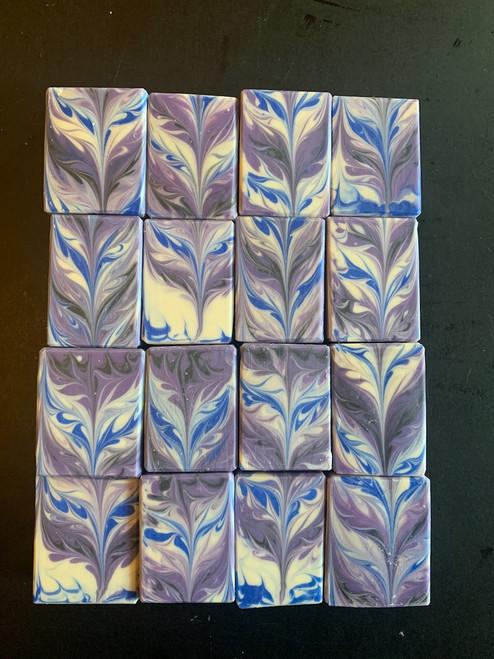 Lavender Chevron Swirl Soap
