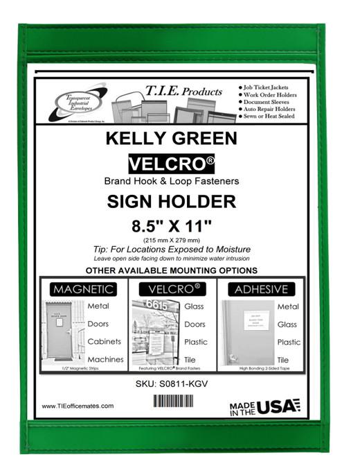 KELLY GREEN SIGN HOLDER