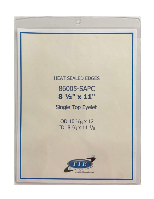 8.5x11 Heat Seal with Hang Hole 100/Pack