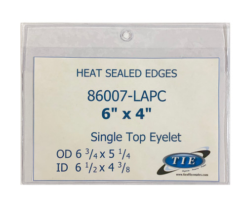6x4 Heat Seal with hang Hole 100/Pack