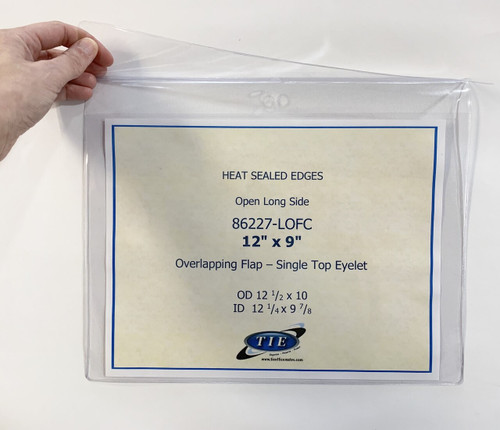 12X9 Heat Seal with Flap 100/Pack