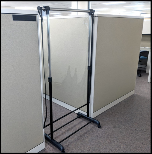 EASY Partition Sneeze Guard - Rolling Floor Style