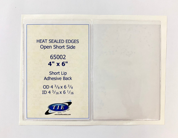 4x6 Adhesive Back Vinyl Holder 100/Pack