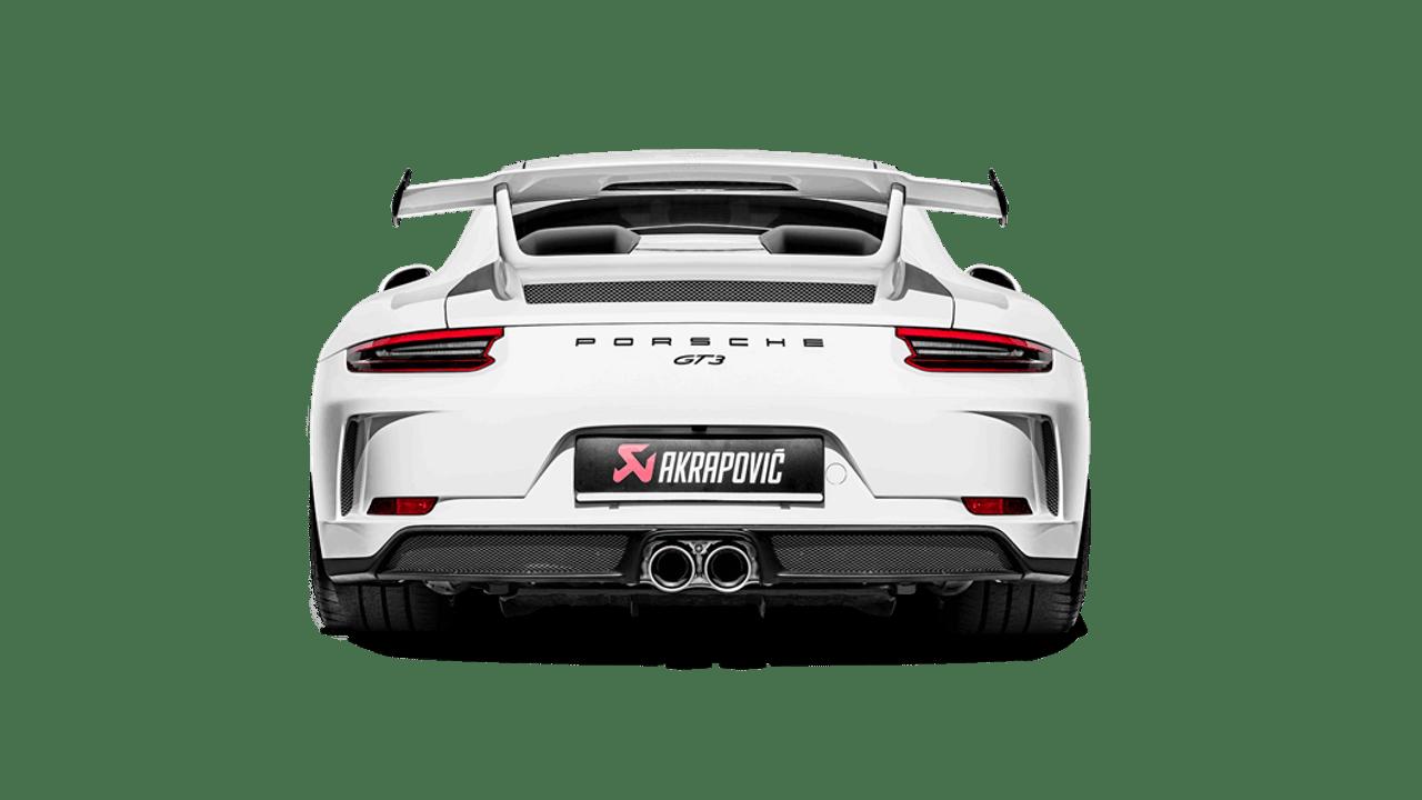 Akrapovič - 18' Porsche 911 GT3 (991.2) Slip-On Race Line Titanium Exhaust w/o Tail Pipe Set
