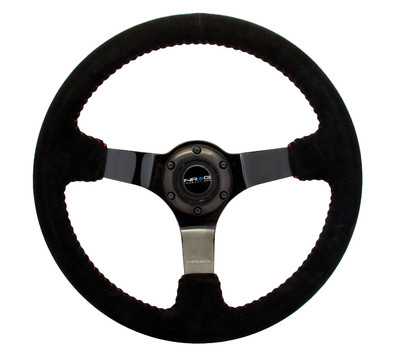 NRG RST-021S-WAVE-Y Japanese Wave Hydro-Dipped Suede Steering Wheel 310mm